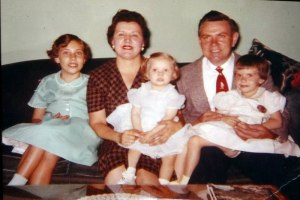 Amy and Stan with their three daughters, Kathy, Lizzie, and Val.