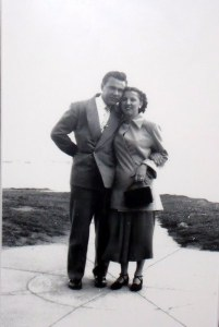 Stan and Amy on their honeymoon.